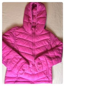 Gap Kids Jacket Hooded Puffer Pink Primaloft XXL